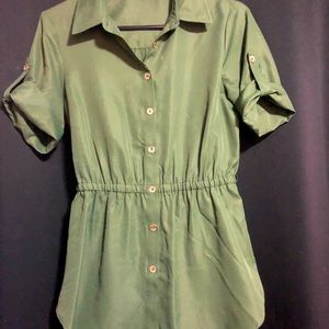 Guess army green blouse